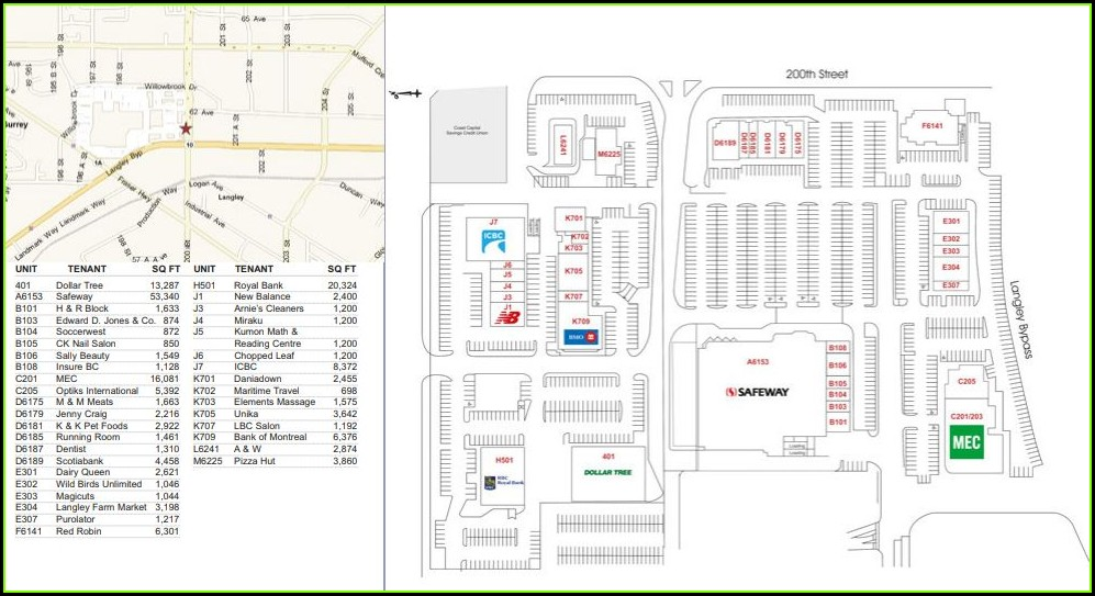 Willowbrook Mall Map Langley