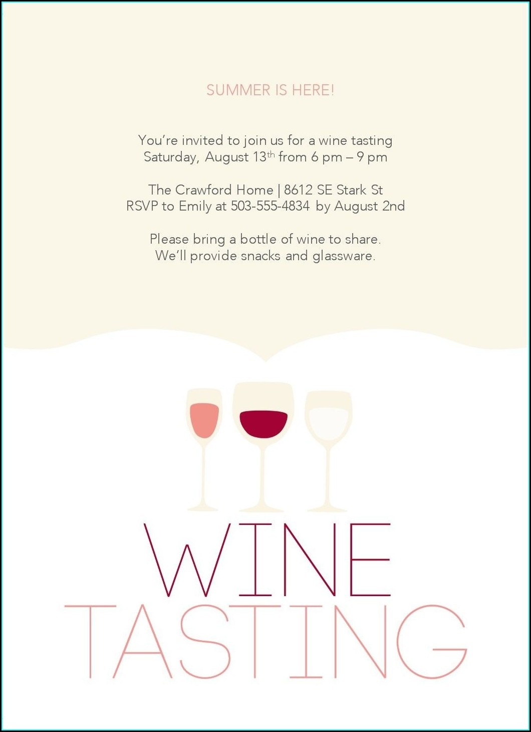 Wine Tour Invitation Templates