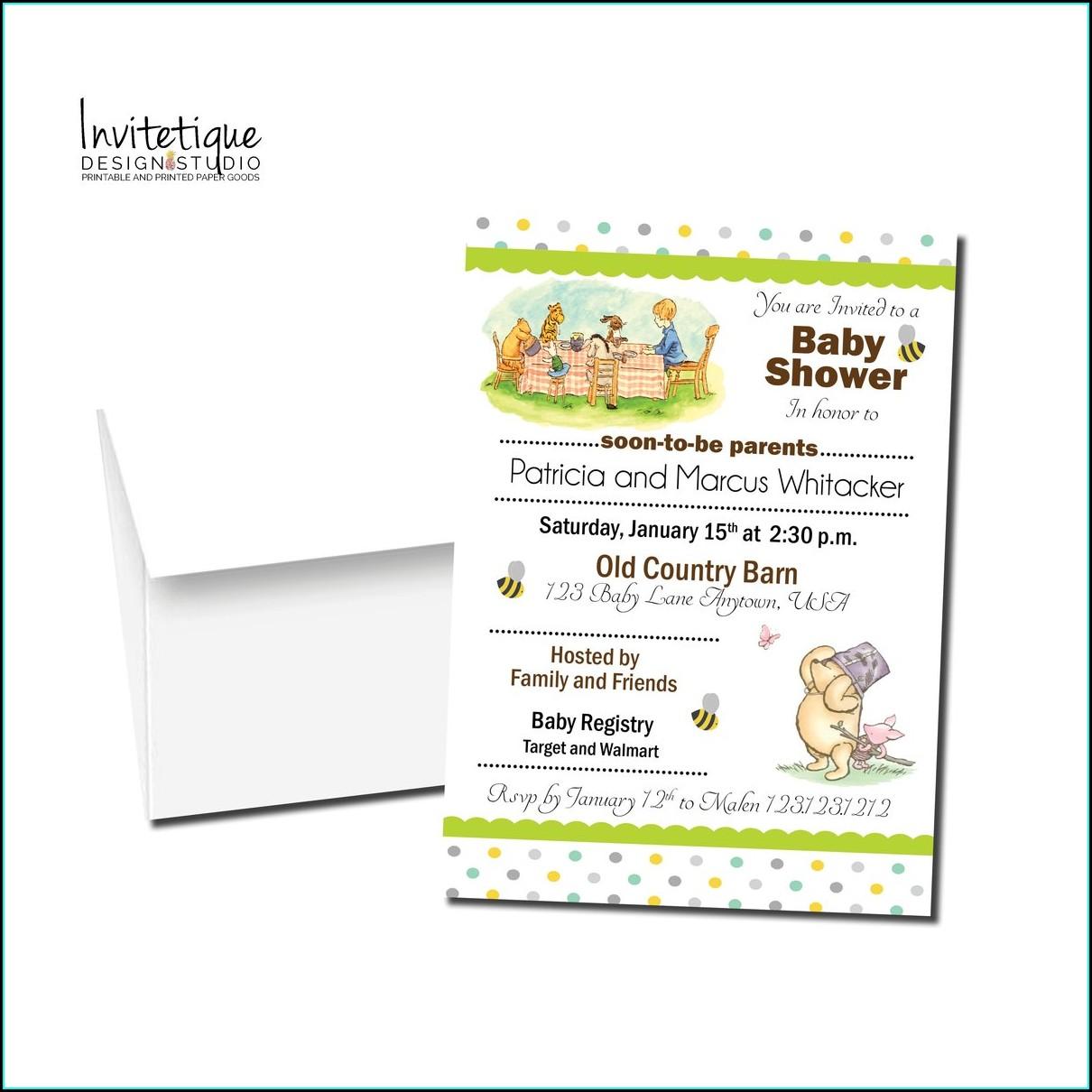 Winnie The Pooh Baby Shower Invitations Walmart