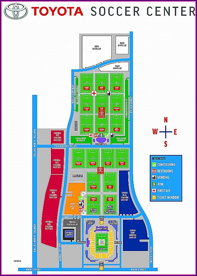 Winstar Casino Hotel Map