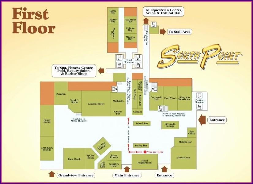 Winstar World Casino Map