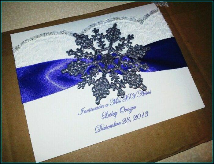 Winter Wonderland Quinceanera Invitations