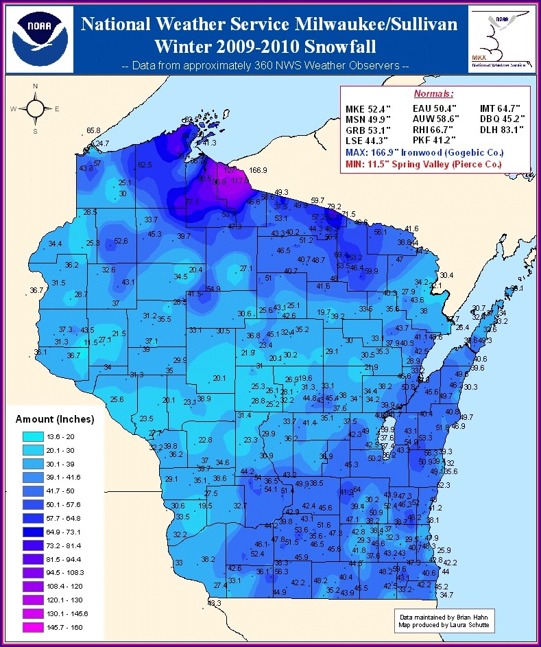 Wisconsin Weather Map Temperature