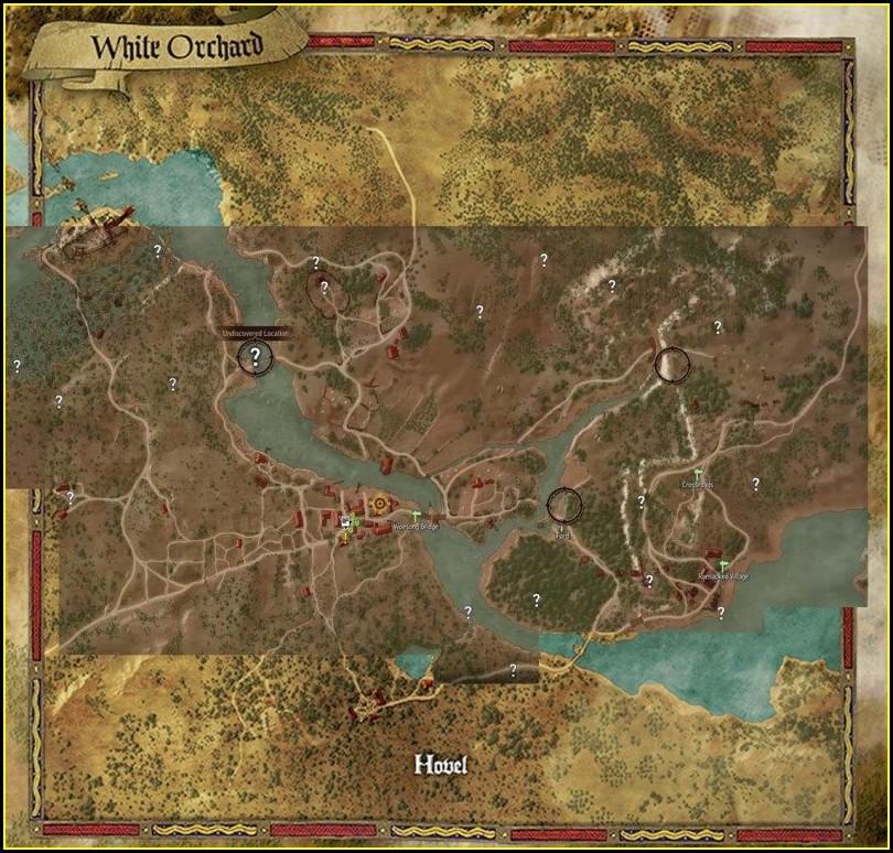 Witcher 3 Map Comparison Skyrim