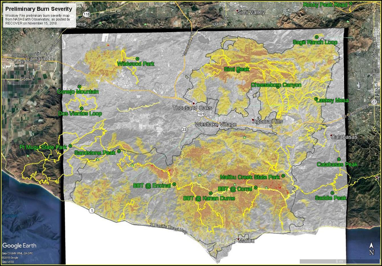 Woolsey Fire Burn Map