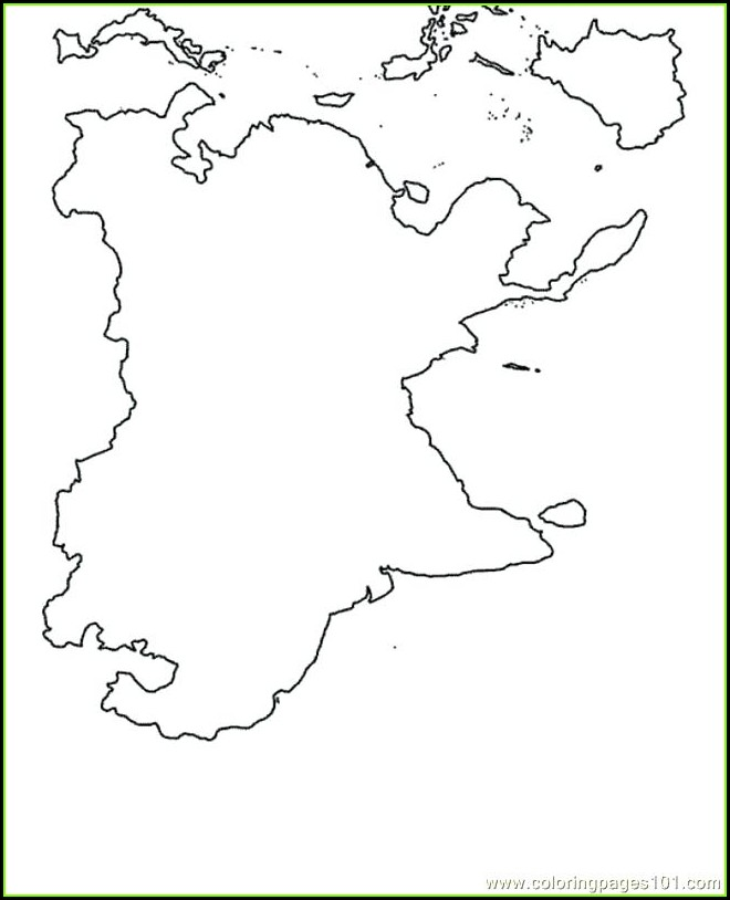 World Map Coloring Page With Countries Online