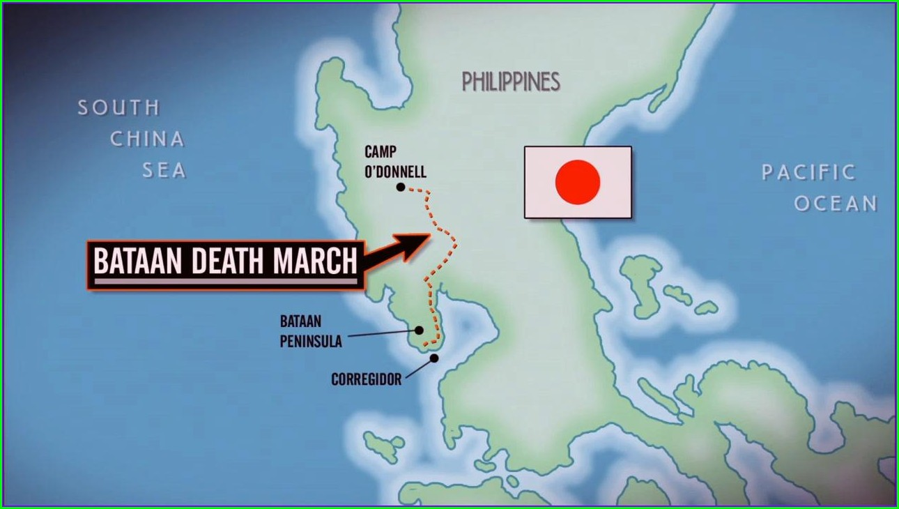 Ww2 Bataan Death March Map