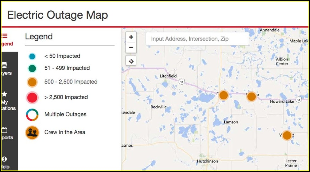 Xcel Energy Outage Map