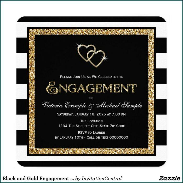 Zazzle Black And Gold Invitations