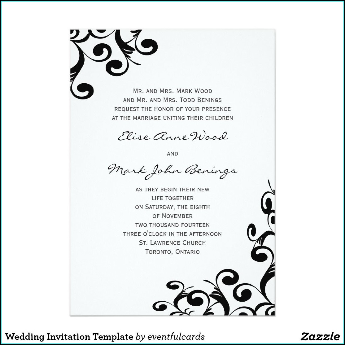 Zazzle Free Invitation Samples