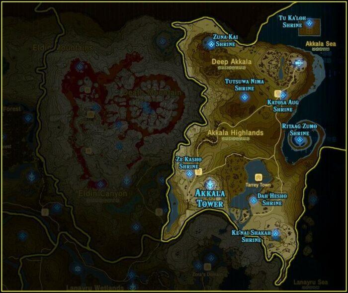 Zelda Botw Full Shrine Map