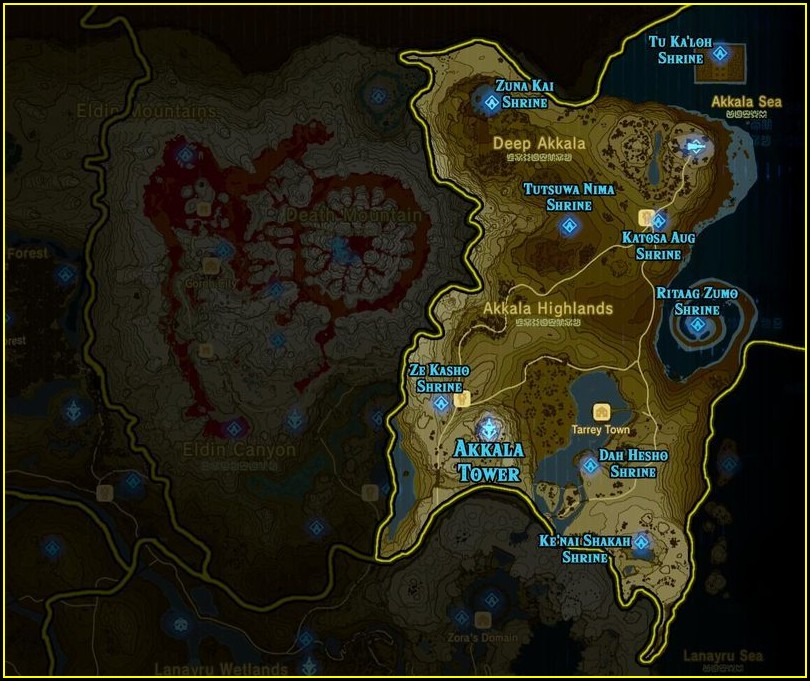 Zelda Botw Full Shrine Map