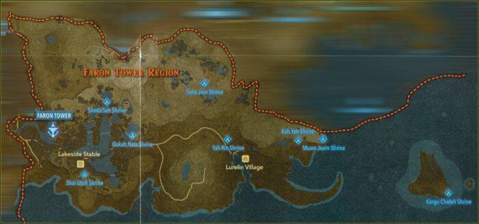Zelda Botw Shrine Map Faron