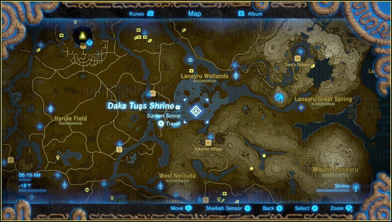 Zelda Breath Of The Wild Shrine Map Printable