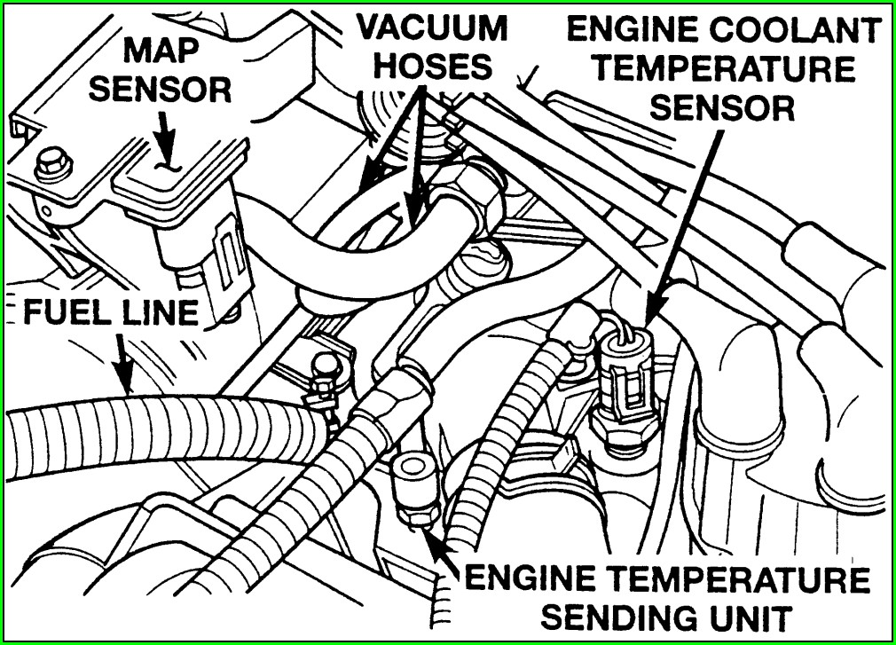 2007 Ford Explorer Map Sensor Location