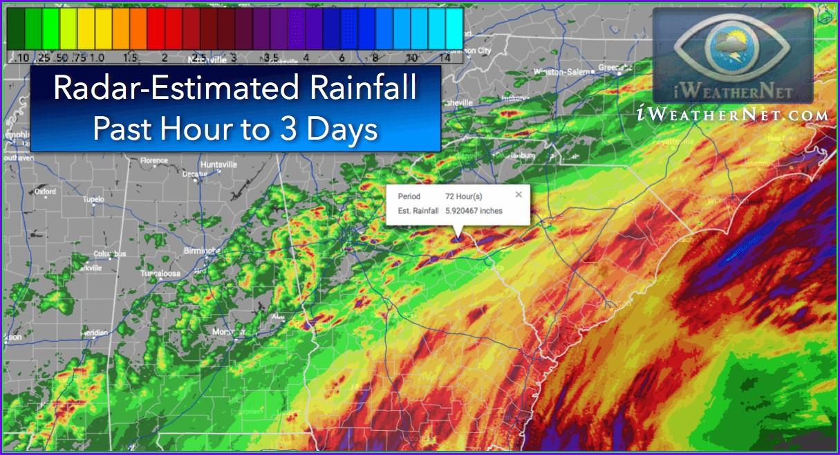 24 Hour Precipitation Map California