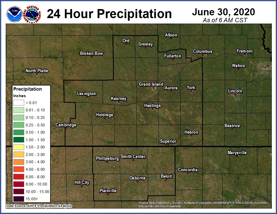 24 Hour Precipitation Map Kansas