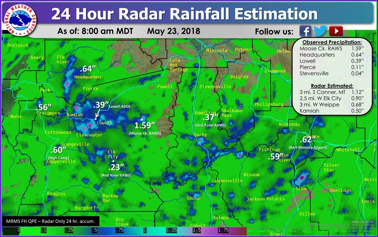 24 Hour Precipitation Map