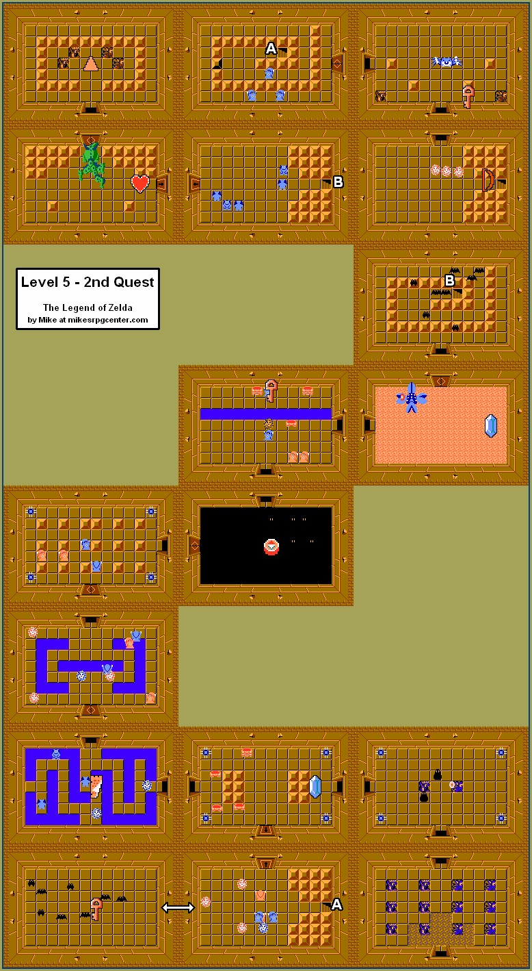 2nd Legend Of Zelda Second Quest Map