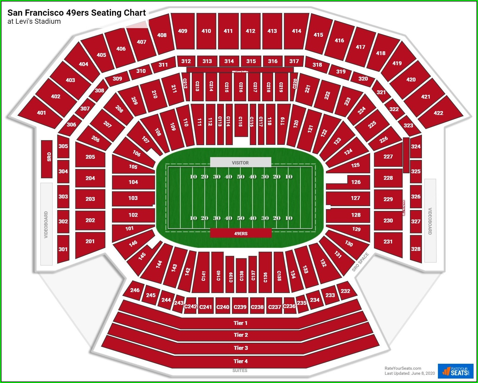 49ers Seat Map 3d