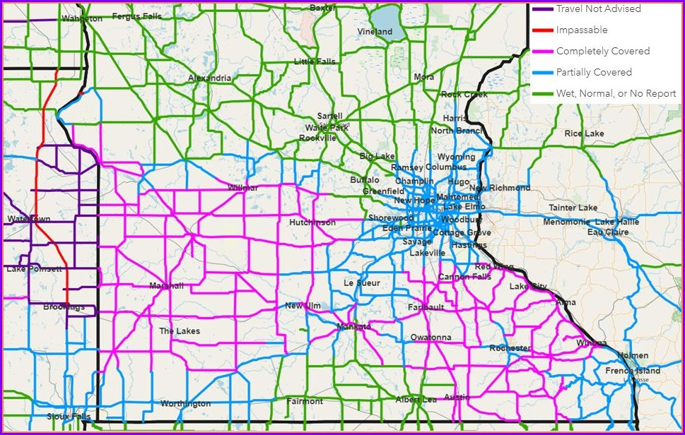 511mn Org Road Conditions Map
