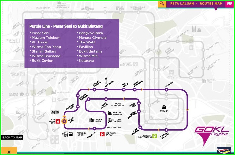 54 Bus Route Map