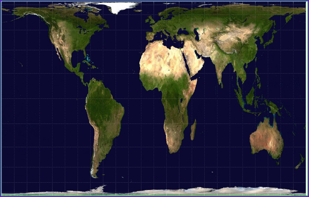 Accurate Proportional World Map