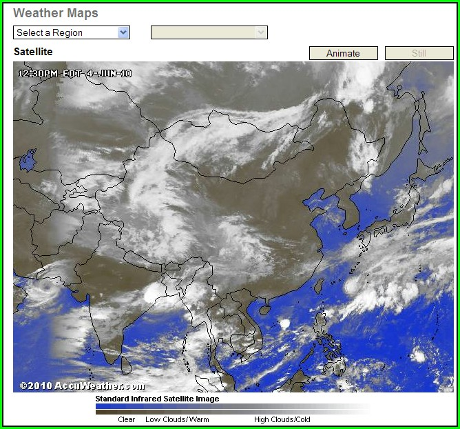 Accuweather Satellite Map Pakistan
