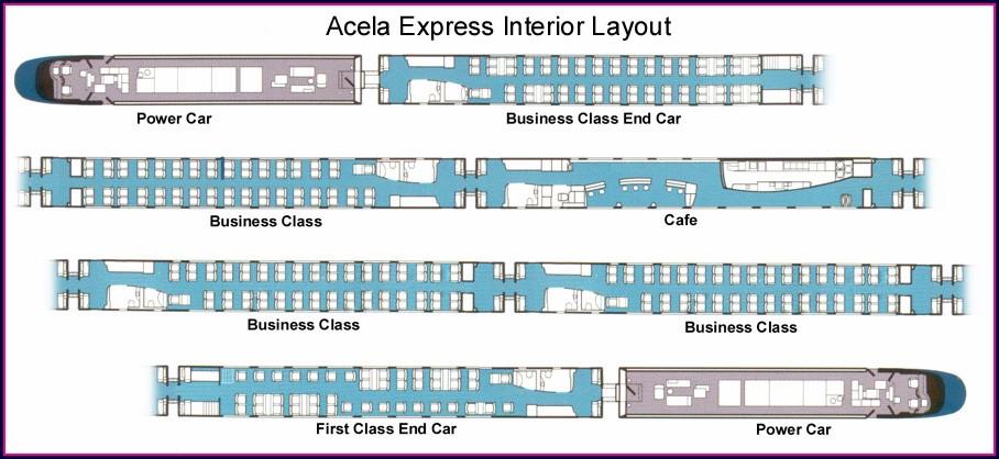 Acela Express First Class Seat Map