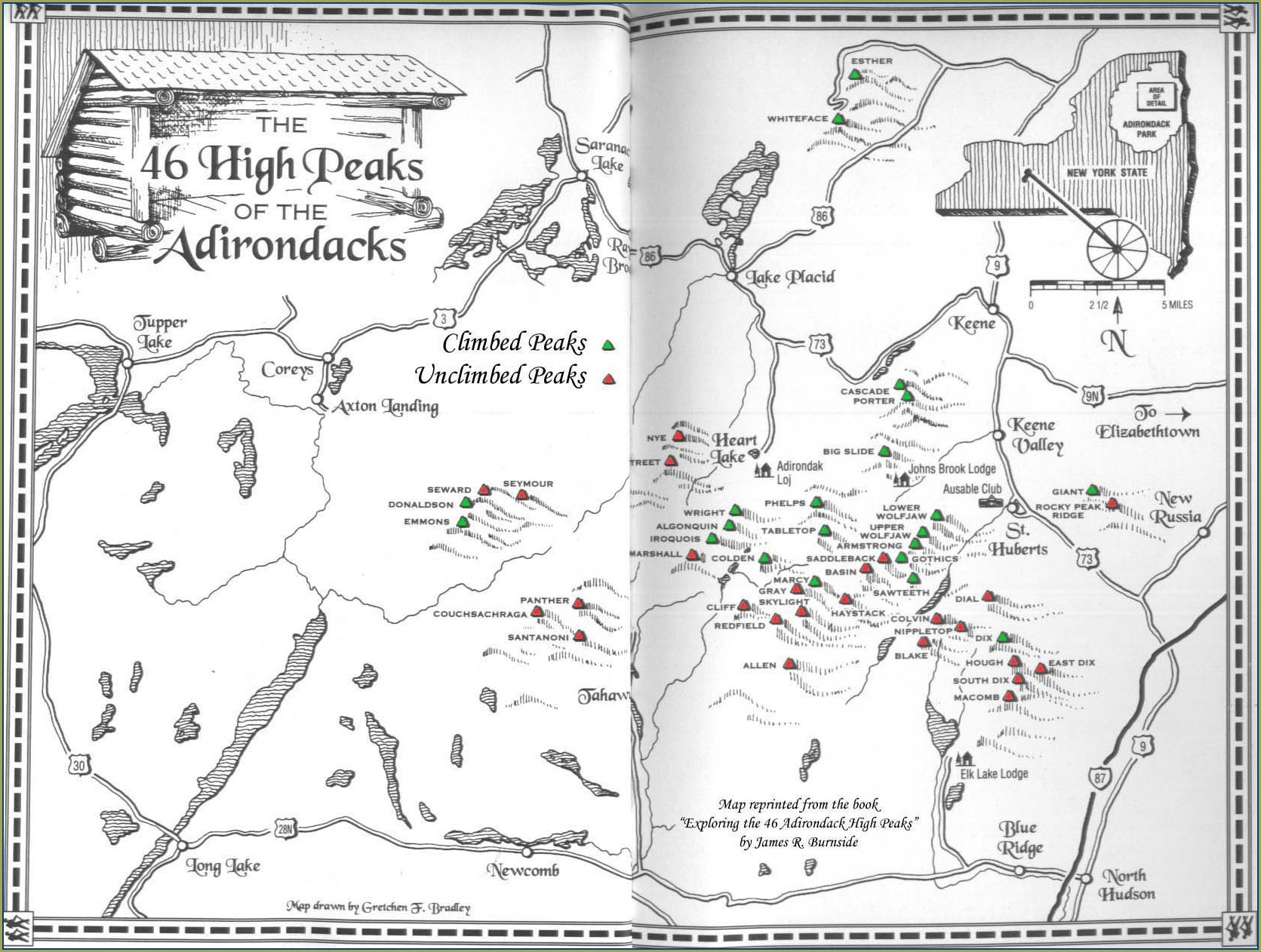 Adk 46 High Peaks Map