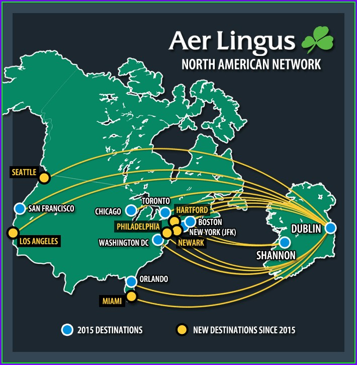 Aer Lingus Route Map 2018