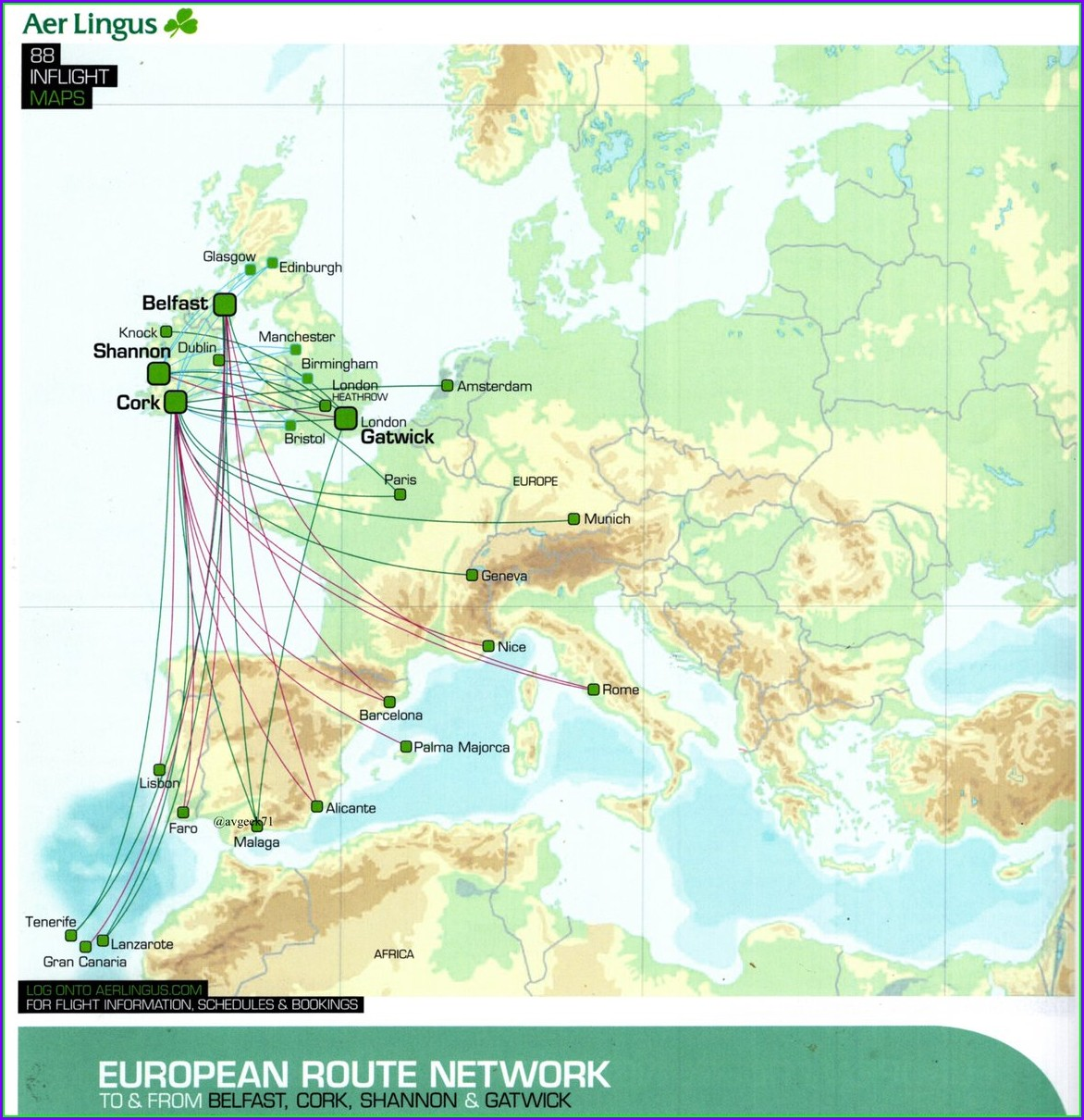 Aer Lingus Route Map 2019
