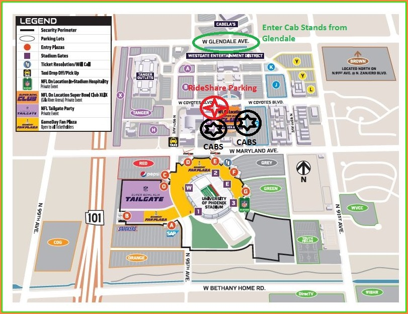 Ak Chin Pavilion Vip Parking Map