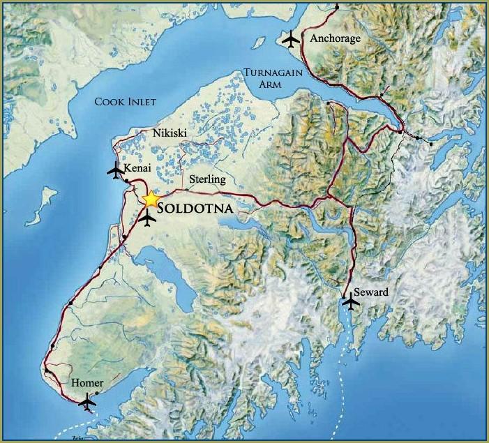 Alaska Kenai Peninsula Map