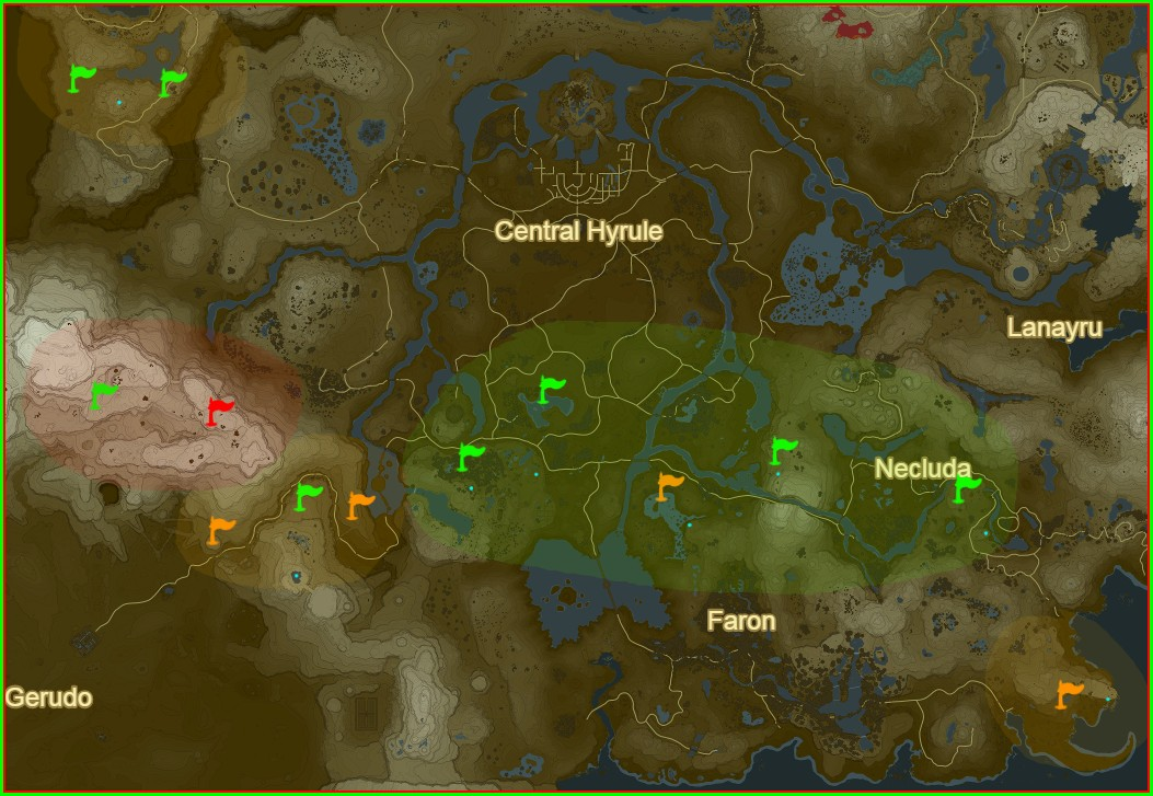 All Stone Talus Locations Botw Map