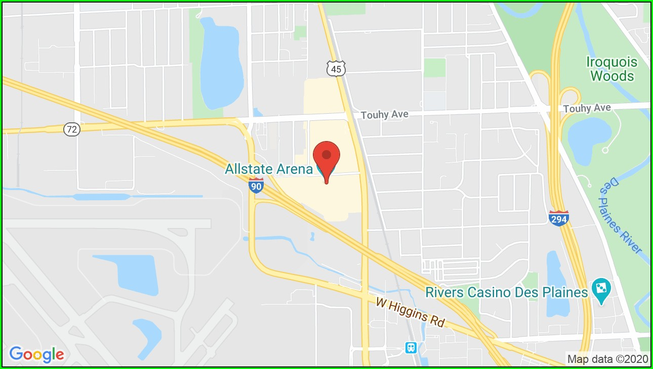 Allstate Arena Rosemont Il Map