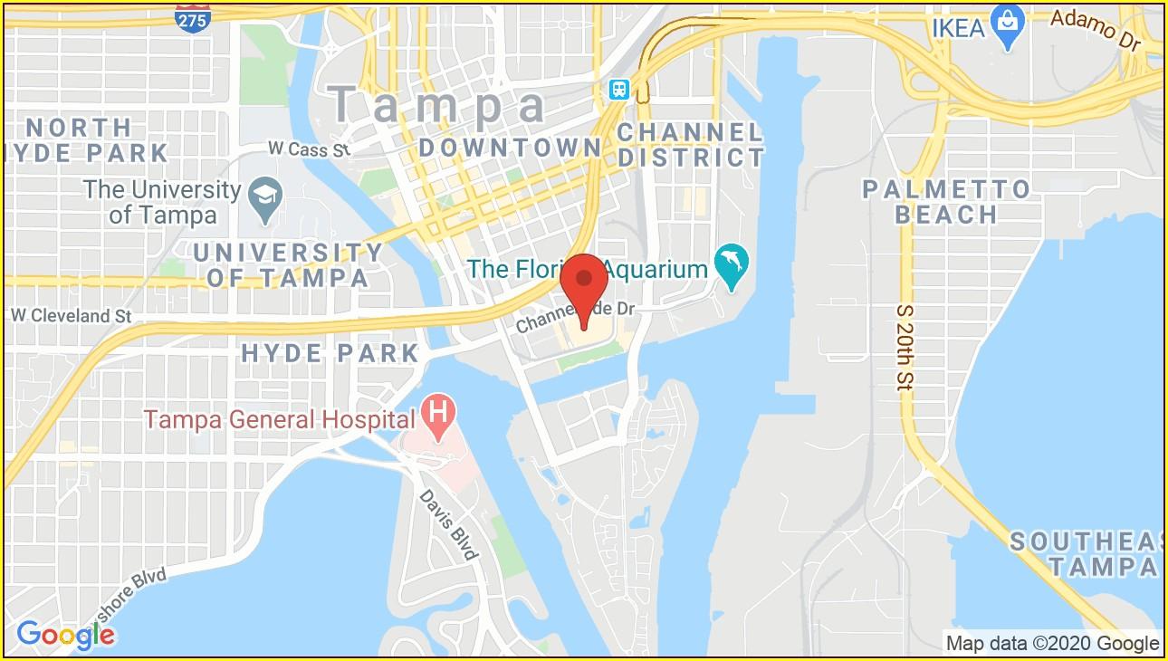 Amalie Arena Tampa Map