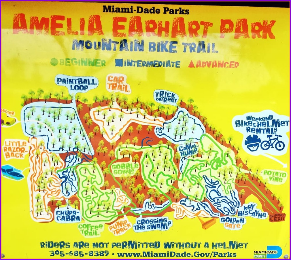Amelia Earhart Park Map