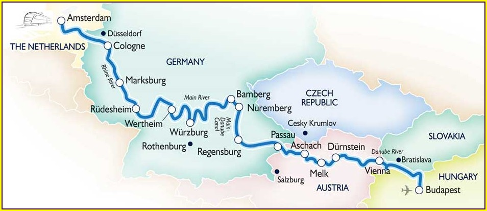 Amsterdam To Budapest River Cruise Map