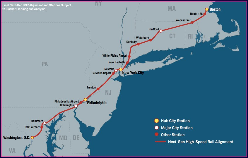 Amtrak Stations In New Jersey Map