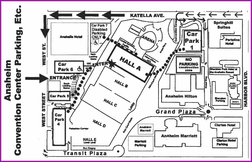 Anaheim Convention Center Hotels Map