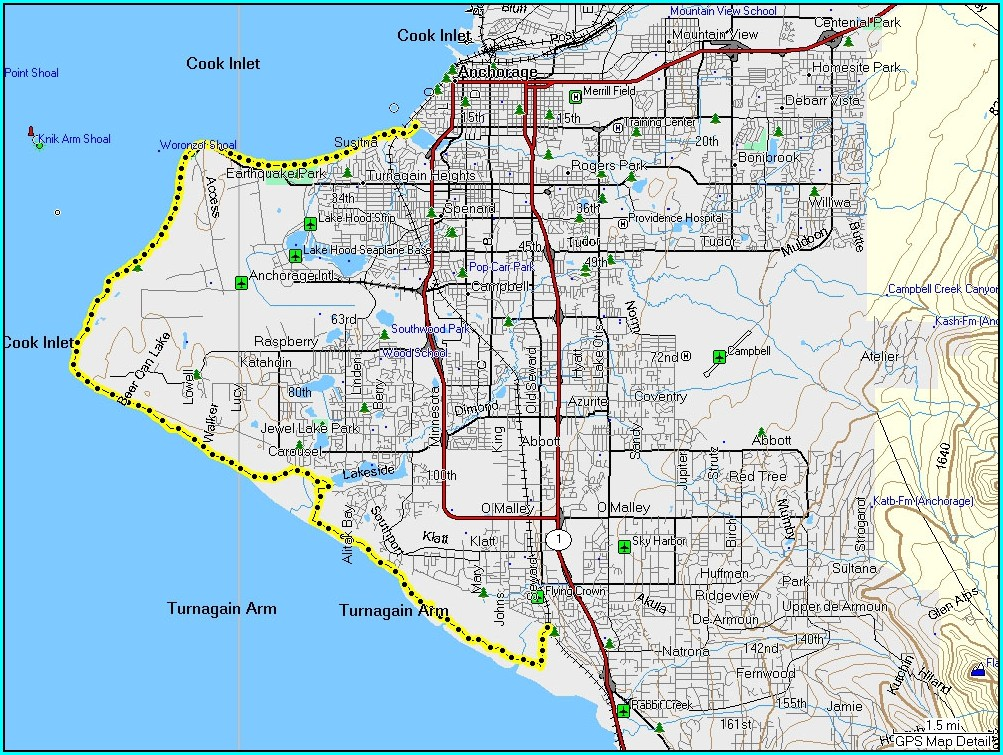 Anchorage Bike Trail Map