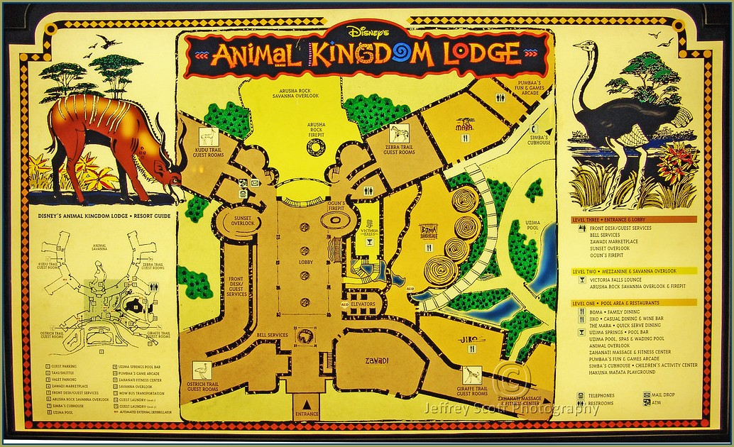 Animal Kingdom Resort Map