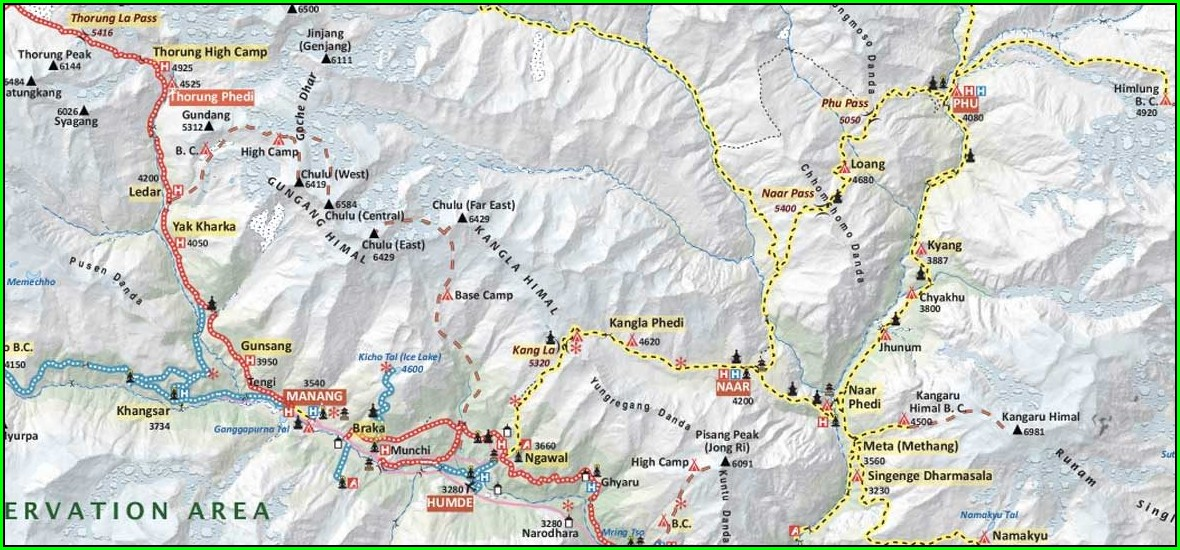 Annapurna Base Camp Trek Map Pdf