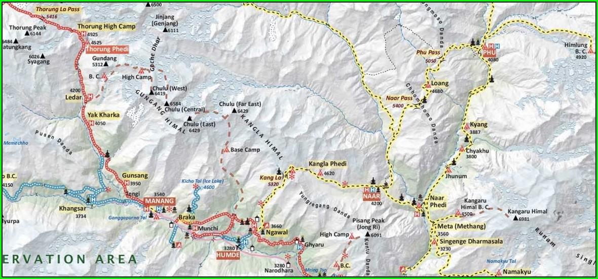 Annapurna Base Camp Trek Map Pdf