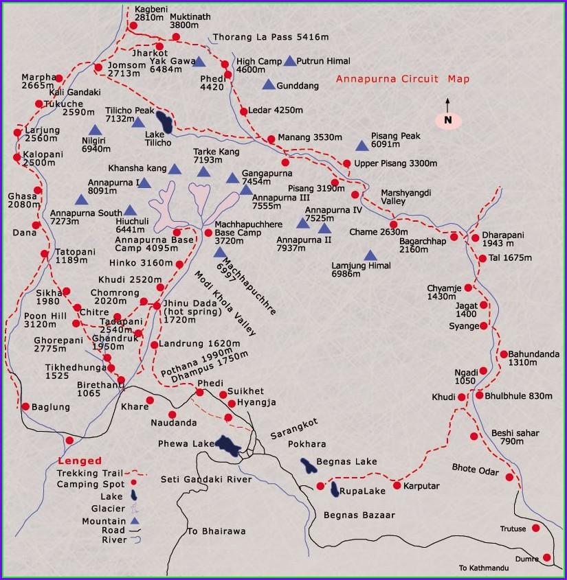 Annapurna Circuit Mapsme