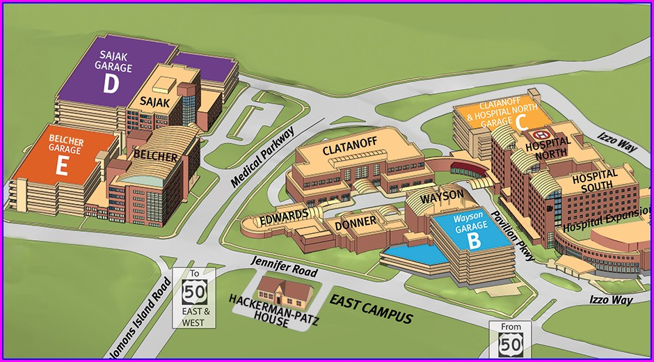 Anne Arundel Medical Center Campus Map