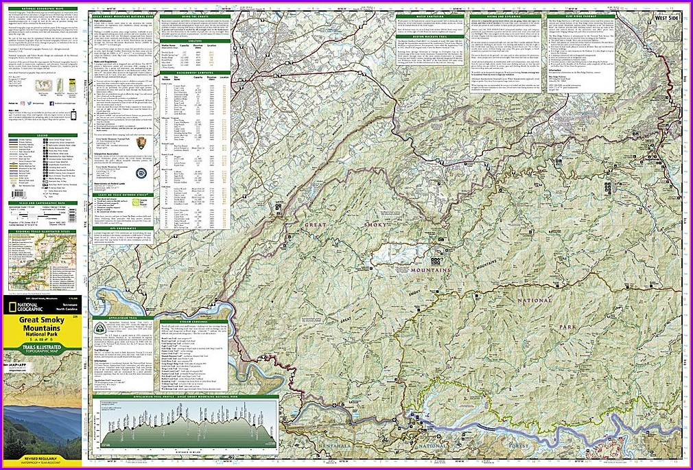 Appalachian Trail Great Smoky Mountains Map