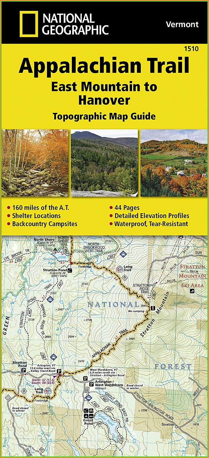 Appalachian Trail Vermont Map