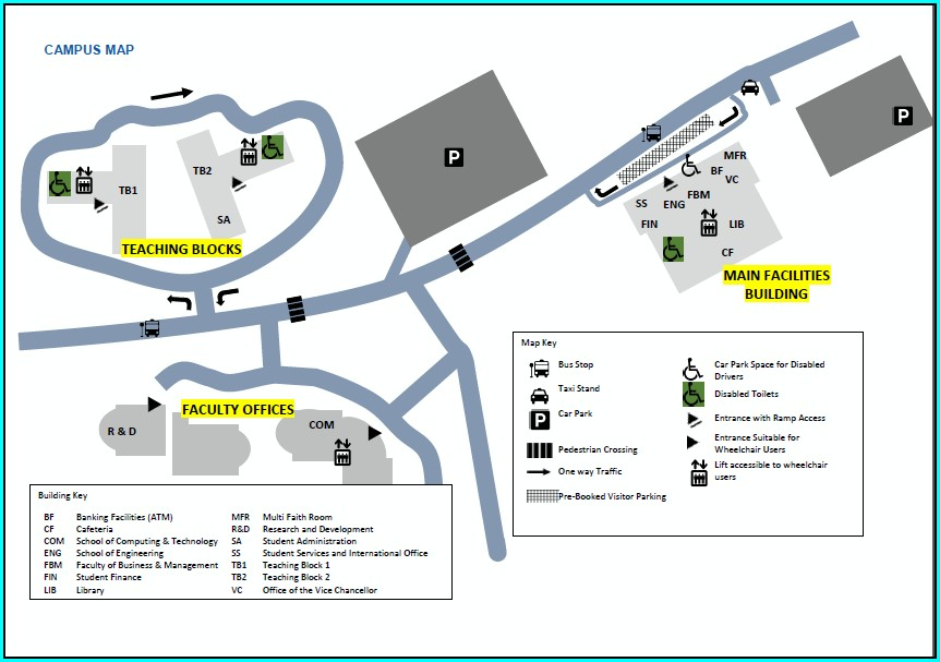 Apu West Campus Map